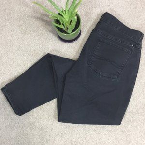 Lucky brand Brooklyn skinny charcoal black jeans